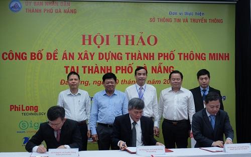 Sở Thông tin và Truyền thông Hà Nội, thành phố Đà Nẵng và thành phố Hồ Chí Minh ký kết hợp tác xây dựng thành phố thông minh